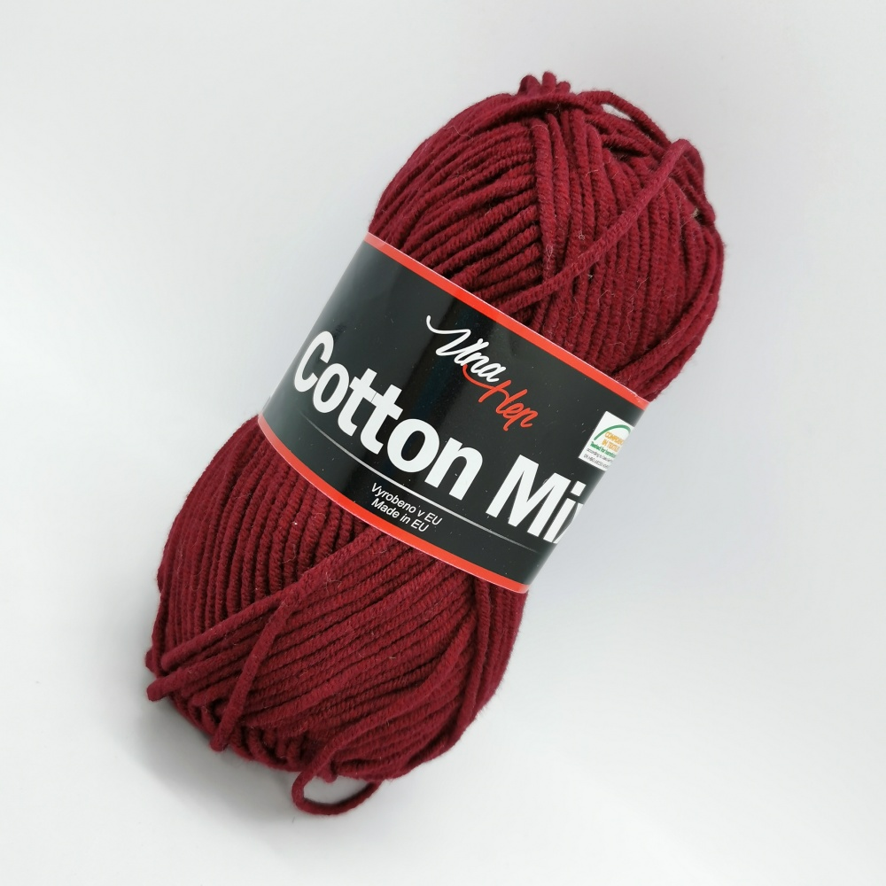 Cotton Mix vínová